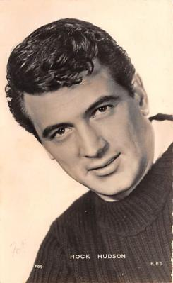 act008284 - Rock Hudson Movie Star Actor Actress Film Star Postcard, Old Vintage Antique Post Card