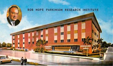 act008323 - Bob Hope Parkinson Research Institute Movie Star Actor Actress Film Star Postcard, Old Vintage Antique Post Card