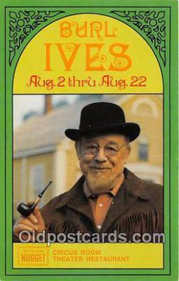 act009001 - Burl Ives Movie Actor / Actress, Entertainment Postcard Post Card