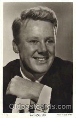 act010017 - Van Johnson Trade Card Actor, Actress, Movie Star, Postcard Post Card