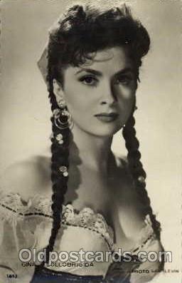 act012040 - Gina Lollobrigida Actress / Actor Postcard Post Card Old Vintage Antique