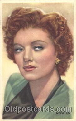 act012125 - Myrna Loy Trade Card Actor, Actress, Movie Star, Postcard Post Card