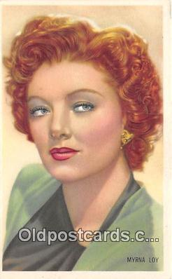 act012174 - Myrna Loy Movie Actor / Actress, Entertainment Postcard Post Card