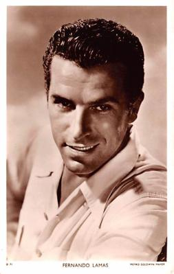 act012232 - Fernando Lamas Movie Star Actor Actress Film Star Postcard, Old Vintage Antique Post Card