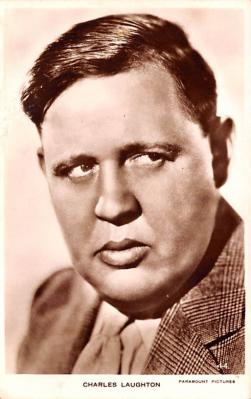 act012238 - Charles Laughton Movie Star Actor Actress Film Star Postcard, Old Vintage Antique Post Card
