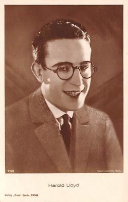 act012247 - Harold Lloyd Movie Star Actor Actress Film Star Postcard, Old Vintage Antique Post Card