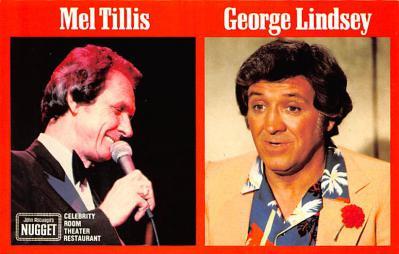 act012250 - Mel Tillis, George Lindsey, Nugget Hotel Casino Movie Star Actor Actress Film Star Postcard, Old Vintage Antique Post Card