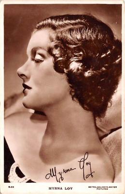 act012270 - Myrna Loy Movie Star Actor Actress Film Star Postcard, Old Vintage Antique Post Card