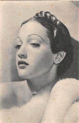 act012317 - Dorothy Lamour Movie Star Actor Actress Film Star Postcard, Old Vintage Antique Post Card