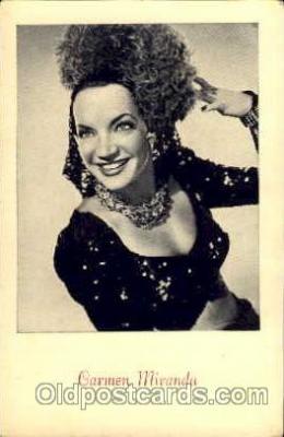 act013011 - Carmen Miranda Actress / Actor Postcard Post Card Old Vintage Antique