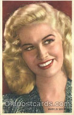 act013086 - Marilyn Maxwell Trade Card Actor, Actress, Movie Star, Postcard Post Card