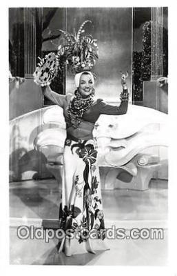 act013166 - Carmen Miranda Movie Actor / Actress, Entertainment Postcard Post Card