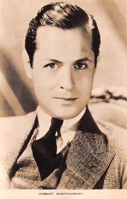 act013245 - Robert Montgomery Movie Star Actor Actress Film Star Postcard, Old Vintage Antique Post Card