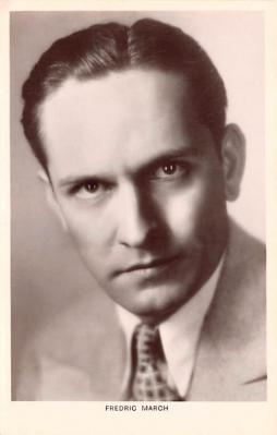 act013259 - Fredric March Movie Star Actor Actress Film Star Postcard, Old Vintage Antique Post Card