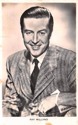act013263 - Ray Milland Movie Star Actor Actress Film Star Postcard, Old Vintage Antique Post Card