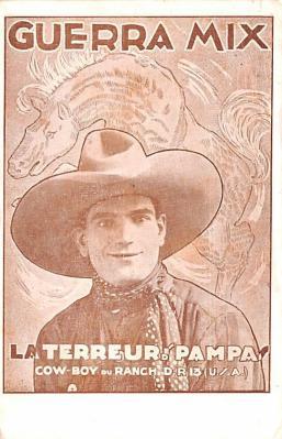 act013288 - Guerra Mix, La Terreur des Pampas Movie Star Actor Actress Film Star Postcard, Old Vintage Antique Post Card