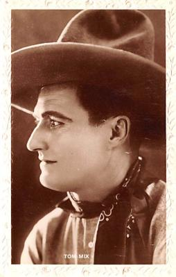 act013289 - Tom Mix Movie Star Actor Actress Film Star Postcard, Old Vintage Antique Post Card