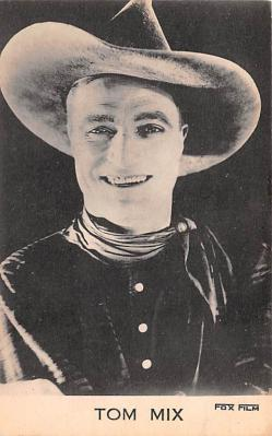 act013304 - Tom Mix, Fox Film Movie Star Actor Actress Film Star Postcard, Old Vintage Antique Post Card