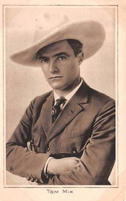 act013308 - Tom Mix Movie Star Actor Actress Film Star Postcard, Old Vintage Antique Post Card