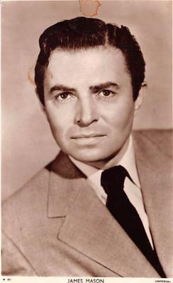 act013321 - James Mason Movie Star Actor Actress Film Star Postcard, Old Vintage Antique Post Card