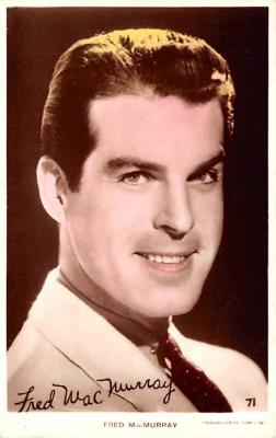 act013334 - Fred MacMurray Movie Star Actor Actress Film Star Postcard, Old Vintage Antique Post Card