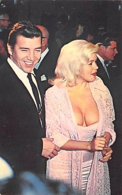 act013343 - Jayne Mansfield and Husband Mickey Horgitay Movie Star Actor Actress Film Star Postcard, Old Vintage Antique Post Card