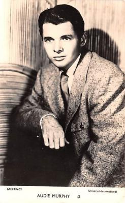 act013345 - Audie Murphy Movie Star Actor Actress Film Star Postcard, Old Vintage Antique Post Card