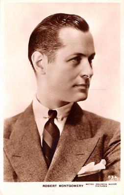 act013373 - Robert Montgomery Movie Star Actor Actress Film Star Postcard, Old Vintage Antique Post Card