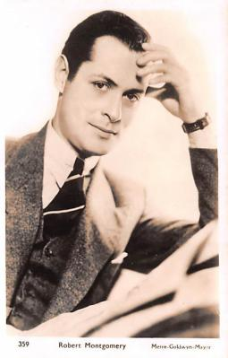 act013374 - Robert Montgomery Movie Star Actor Actress Film Star Postcard, Old Vintage Antique Post Card