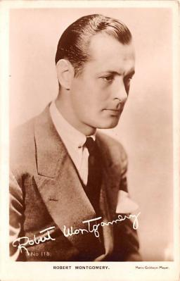 act013384 - Robert Montgomery Movie Star Actor Actress Film Star Postcard, Old Vintage Antique Post Card