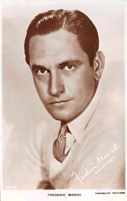 act013395 - Fredric March Movie Star Actor Actress Film Star Postcard, Old Vintage Antique Post Card