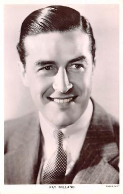 act013408 - Ray Milland Movie Star Actor Actress Film Star Postcard, Old Vintage Antique Post Card