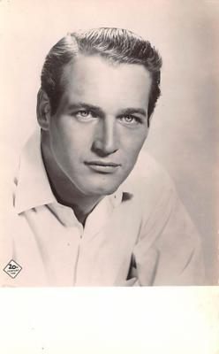 act014050 - Paul Newman Movie Star Actor Actress Film Star Postcard, Old Vintage Antique Post Card