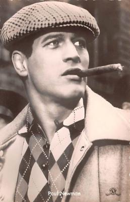 act014051 - Paul Newman Movie Star Actor Actress Film Star Postcard, Old Vintage Antique Post Card