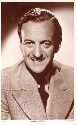 act014052 - David Niven Movie Star Actor Actress Film Star Postcard, Old Vintage Antique Post Card