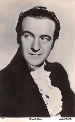 act014061 - David Niven Movie Star Actor Actress Film Star Postcard, Old Vintage Antique Post Card