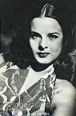act016051 - Jean Peters Actor, Actress, Movie Star, Postcard Post Card