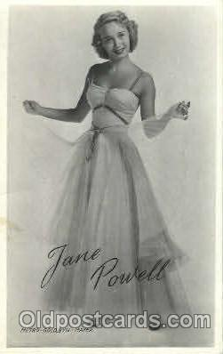 act016052 - Jane Powell Actor, Actress, Movie Star, Postcard Post Card