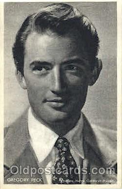 act016079 - Gregory Peck Non Postcard, Actor, Actress, Movie Star, Postcard Post Card
