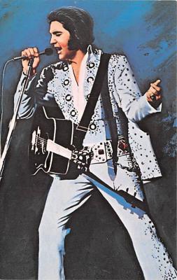 act016113 - Elvis Presley Movie Star Actor Actress Film Star Postcard, Old Vintage Antique Post Card