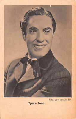 act016140 - Tyrone Power Movie Star Actor Actress Film Star Postcard, Old Vintage Antique Post Card