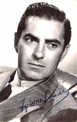 act016143 - Tyrone Powell Movie Star Actor Actress Film Star Postcard, Old Vintage Antique Post Card