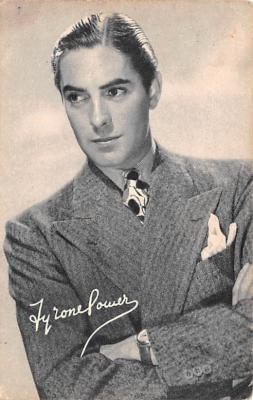 act016157 - Tyrone Power Movie Star Actor Actress Film Star Postcard, Old Vintage Antique Post Card