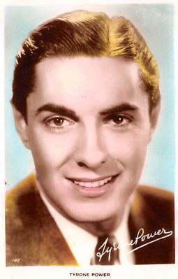 act016178 - Tyrone Power Movie Star Actor Actress Film Star Postcard, Old Vintage Antique Post Card