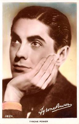 act016186 - Tyrone Power Movie Star Actor Actress Film Star Postcard, Old Vintage Antique Post Card