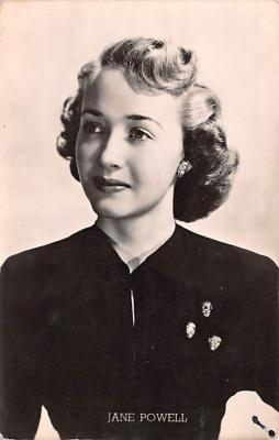 act016237 - Jane Powell Movie Star Actor Actress Film Star Postcard, Old Vintage Antique Post Card