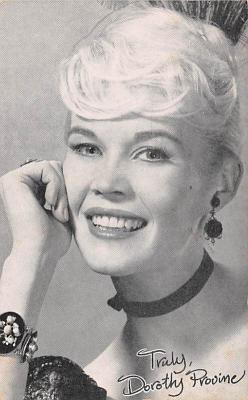 act016258 - Dorothy Provine Movie Star Actor Actress Film Star Postcard, Old Vintage Antique Post Card