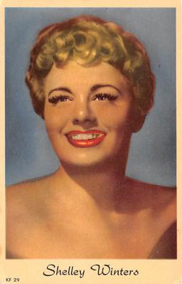 act017004 - Shelley Winters Movie Star Actor Actress Film Star Postcard, Old Vintage Antique Post Card