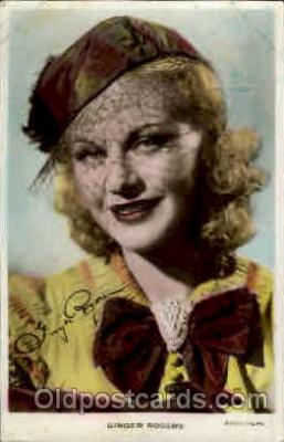 act018040 - Ginger Rogers Actress / Actor Postcard Post Card Old Vintage Antique