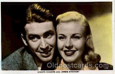 act018043 - Ginger Rogers & James Stewart Actress / Actor Postcard Post Card Old Vintage Antique